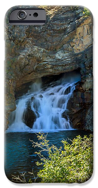 Rivers In The Fall iPhone Cases - Running Eagle Falls  iPhone Case by Robert Bales