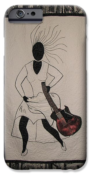 African-americans Tapestries - Textiles iPhone Cases - Running Late iPhone Case by Aisha Lumumba