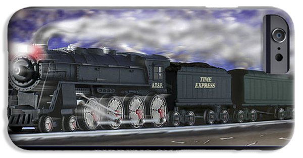 Photo Manipulation Digital Art iPhone Cases - Running On Time iPhone Case by Mike McGlothlen