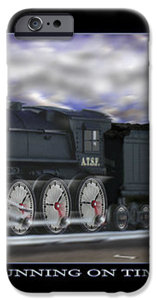 RUNNING ON TIME iPhone Case by Mike McGlothlen