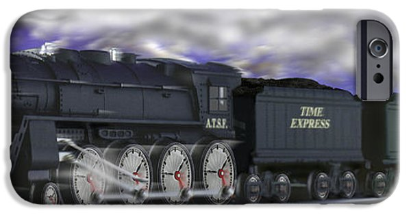 Altered iPhone Cases - Running On Time Panoramic iPhone Case by Mike McGlothlen