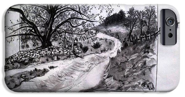 Pathway Drawings iPhone Cases - Running Outside the Box iPhone Case by Micki Davis
