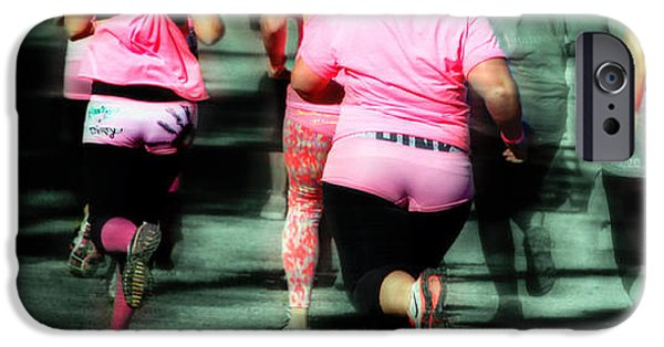 Racing iPhone Cases - Running Pink  iPhone Case by Steven  Digman
