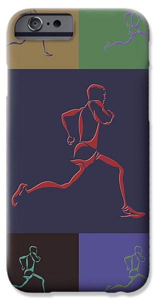 Big Sur iPhone Cases - Running Runner iPhone Case by Joe Hamilton