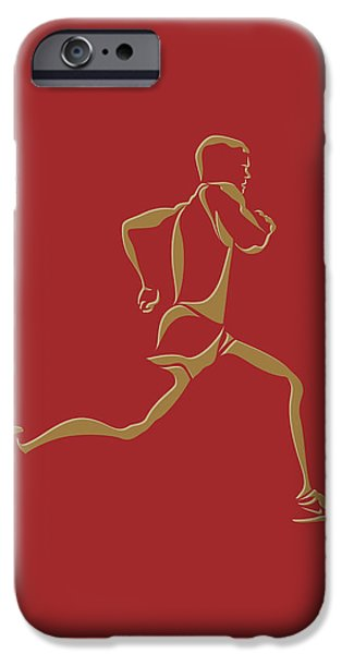 Runner iPhone Cases - Running Runner10 iPhone Case by Joe Hamilton