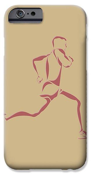 Runner iPhone Cases - Running Runner14 iPhone Case by Joe Hamilton
