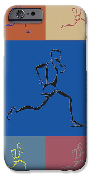 Athens iPhone Cases - Running Runner2 iPhone Case by Joe Hamilton