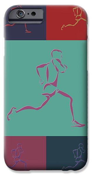 Runner iPhone Cases - Running Runner3 iPhone Case by Joe Hamilton