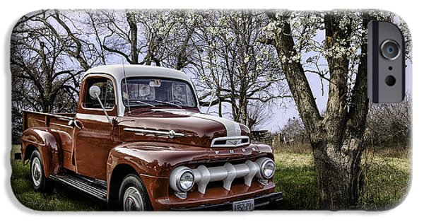 Betty Ford iPhone Cases - Rural 1952 Ford Pickup iPhone Case by Betty Denise
