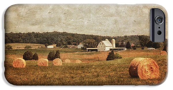 Old Barns iPhone Cases - Rural America iPhone Case by Kim Hojnacki