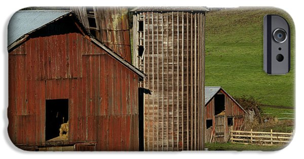 Old Barns iPhone Cases - Rural Barn iPhone Case by Bill Gallagher