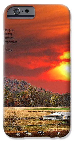 RURAL BARNS  my BOOK COVER iPhone Case by Randall Branham