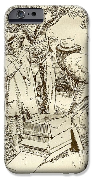 Rural iPhone Cases - Rural Beekeeping In The Early Twentieth Century.  From Windfalls By Alpha Of The Plough, Published iPhone Case by Bridgeman Images
