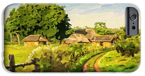 Recently Sold -  - Village iPhone Cases - Rural Home iPhone Case by Anthony Mwangi