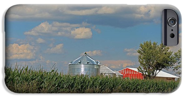 Barn Poster Photographs iPhone Cases - Rural Indiana Scene - Adams County iPhone Case by Suzanne Gaff