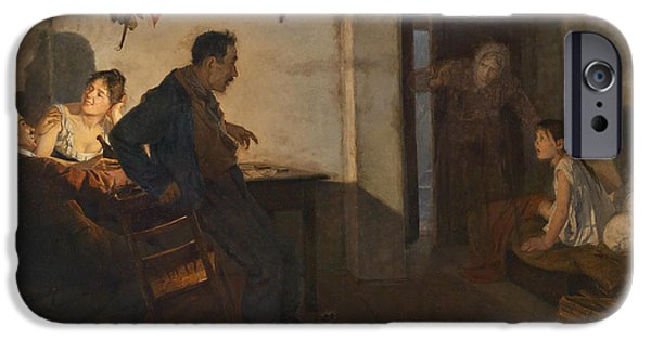 Interior Scene iPhone Cases - Rural interior scene iPhone Case by Adolf Karpellus