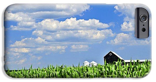 Agricultural iPhone Cases - Rural landscape iPhone Case by Elena Elisseeva