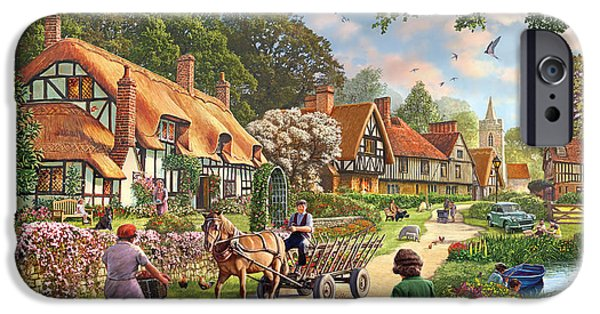Village iPhone Cases - Rural Life iPhone Case by Steve Crisp