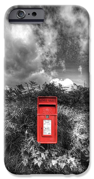 Rural Post box iPhone Case by Mal Bray