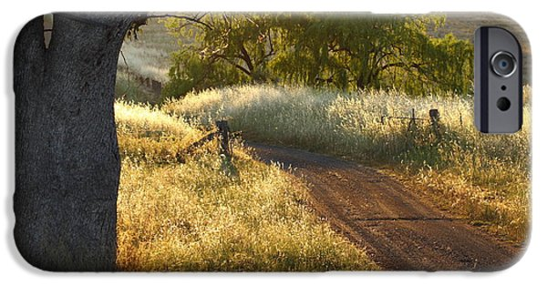Aspley iPhone Cases - Rural Road 2AM-009691 iPhone Case by Andrew McInnes
