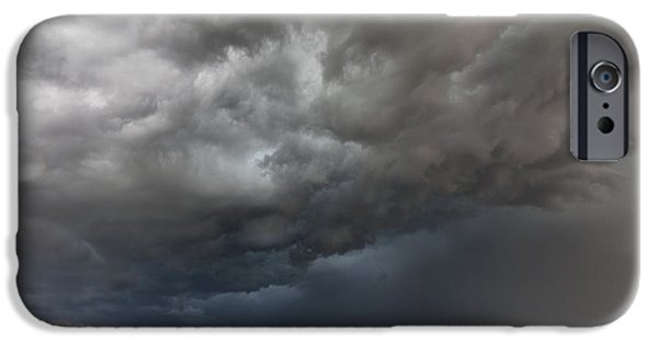 Turbulent Skies iPhone Cases - Rural Storm iPhone Case by Steven Reed