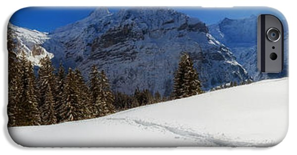 Swiss Landscape iPhone Cases - Rural Switzerland Panorama iPhone Case by Mountain Dreams