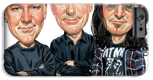Famous Musician iPhone Cases - Rush iPhone Case by Art