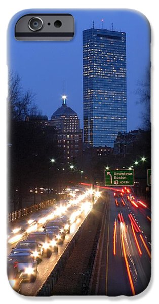 City. Boston iPhone Cases - Rush Hour iPhone Case by Juergen Roth