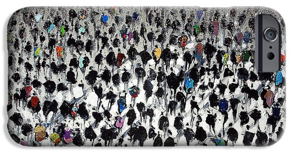 Business Paintings iPhone Cases - Rush Hour iPhone Case by Neil McBride