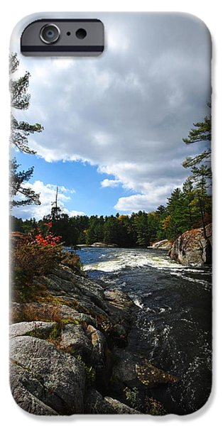 Ledge iPhone Cases - Rushing River iPhone Case by Debbie Oppermann