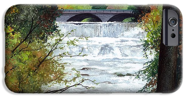 Rivers In The Fall iPhone Cases - Rushing Water - Quiet Thoughts iPhone Case by Barbara Jewell
