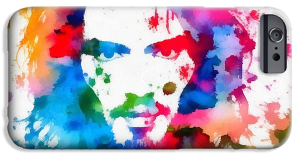 Katy Perry iPhone Cases - Russell Brand Paint Splatter iPhone Case by Dan Sproul