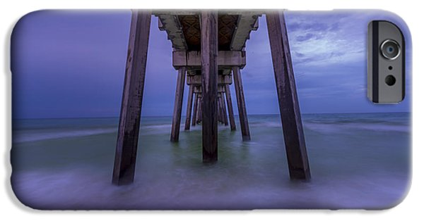 David iPhone Cases - Russell Fields Pier iPhone Case by David Morefield