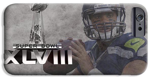 New Jersey iPhone Cases - Russell Wilson iPhone Case by Joe Hamilton