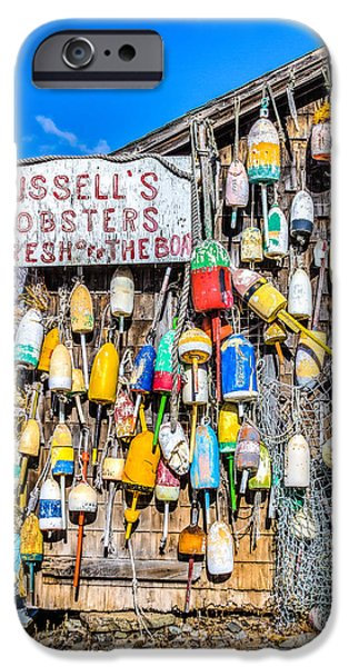 Recently Sold -  - Shed iPhone Cases - Russells Lobster Shack II iPhone Case by Jeff Donald