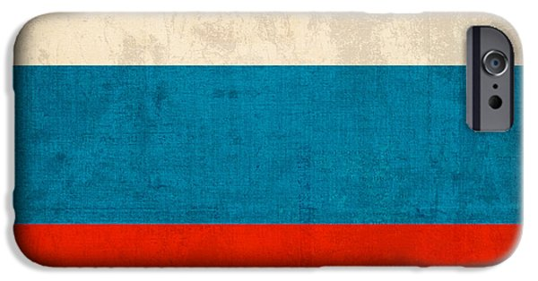 Russia iPhone Cases - Russia Flag Vintage Distressed Finish iPhone Case by Design Turnpike