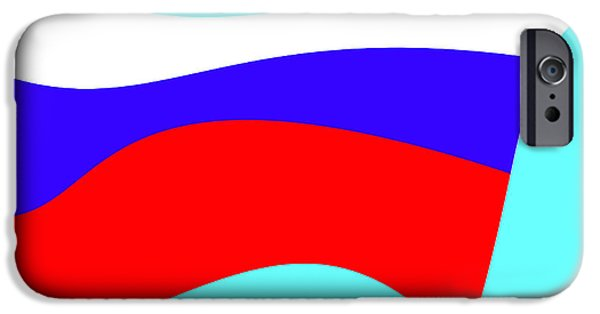 Cities Tapestries - Textiles iPhone Cases - Russian flag iPhone Case by Lali Kacharava