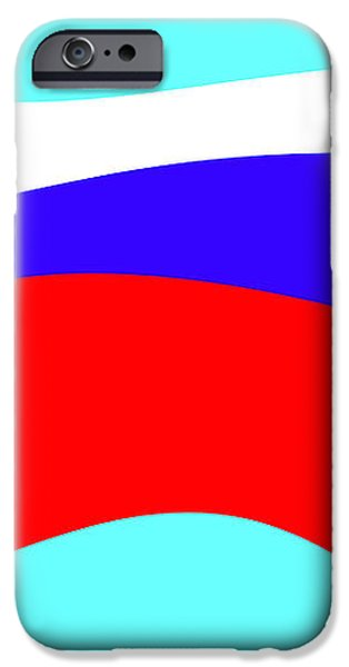 Russian flag iPhone Case by Lali Kacharava