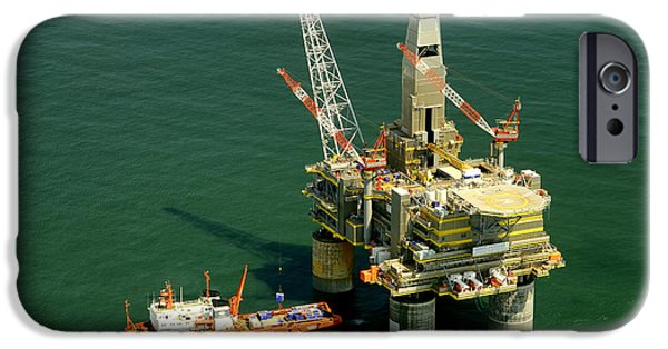Sea Platform iPhone Cases - Russian Oil Platform iPhone Case by Mountain Dreams