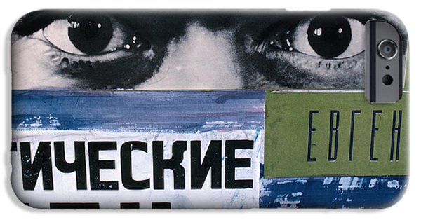 Russia iPhone Cases - Russian Posters in Moscow 1967 iPhone Case by The Phillip Harrington Collection