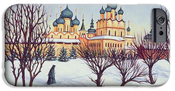 Frigid iPhone Cases - Russian Winter iPhone Case by Tilly Willis