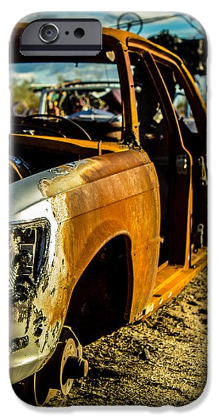 Rust Sculptures iPhone Cases - Rust Bucket iPhone Case by James Williams