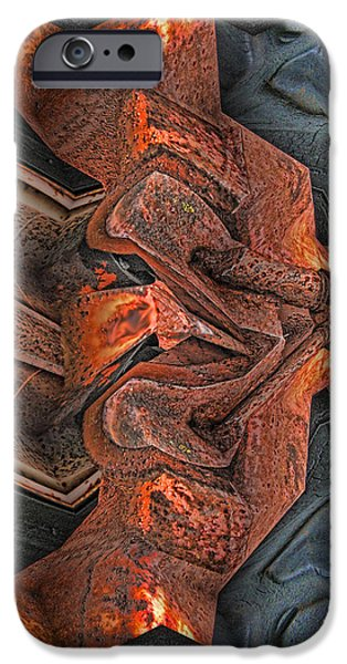 Business Digital iPhone Cases - Rust Flow iPhone Case by Wendy J St Christopher