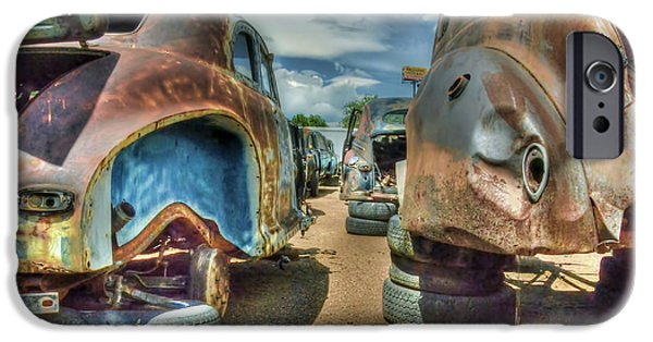 Junk Yard iPhone Cases - Rust in Peace iPhone Case by Ken Smith