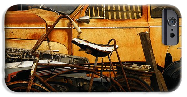 Old Cars iPhone Cases - Rust Race iPhone Case by Joe Jake Pratt