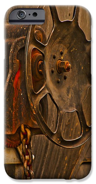 Industrial Pyrography iPhone Cases - Rusted Brake iPhone Case by Pobby Heglar