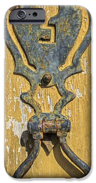 Rust iPhone Cases - Rusted Door Lock iPhone Case by David Letts