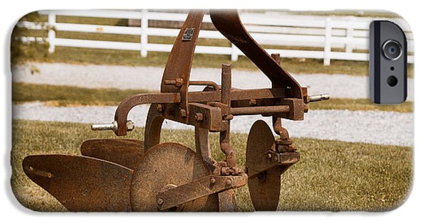 Component iPhone Cases - Rusted Farm Machinery iPhone Case by Terry Weaver