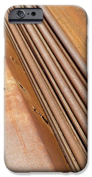 Rust iPhone Cases - Rusted Girders 1 iPhone Case by Anita Burgermeister