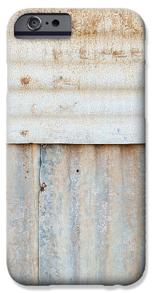 Rusted Metal Background iPhone Case by Tim Hester